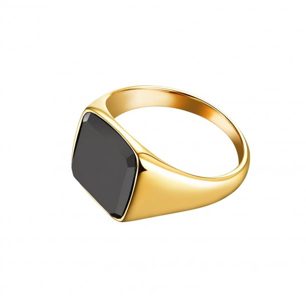 Black Onyx Signature - 925. Sterling silver ring