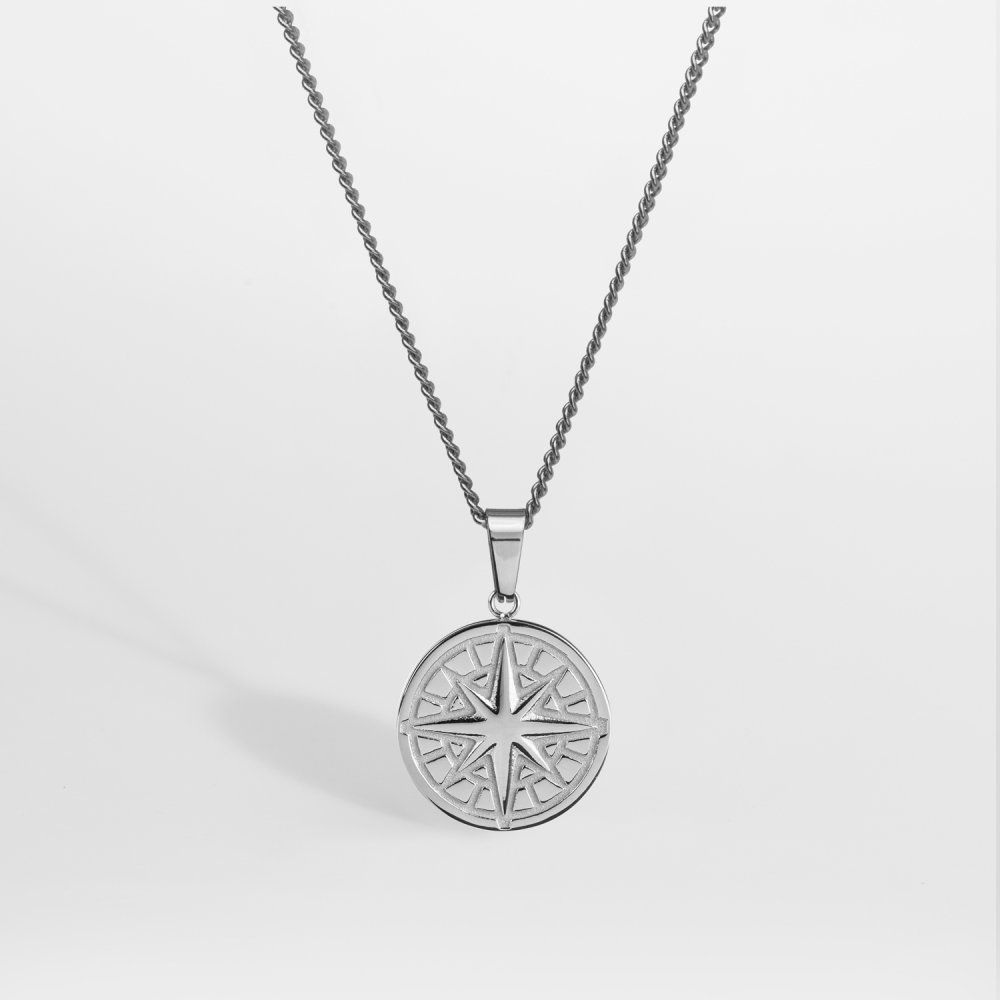 NL Compass halskæde 2.0 - Sølvtonet
