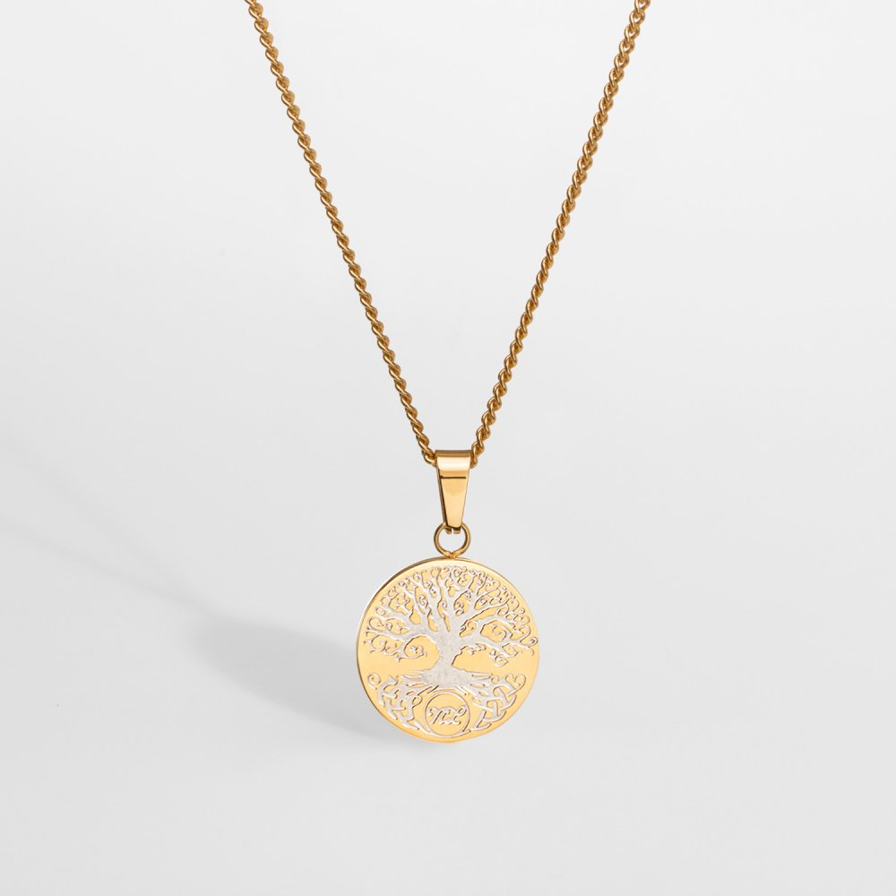 NL Yggdrasil halskæde - Guldtonet