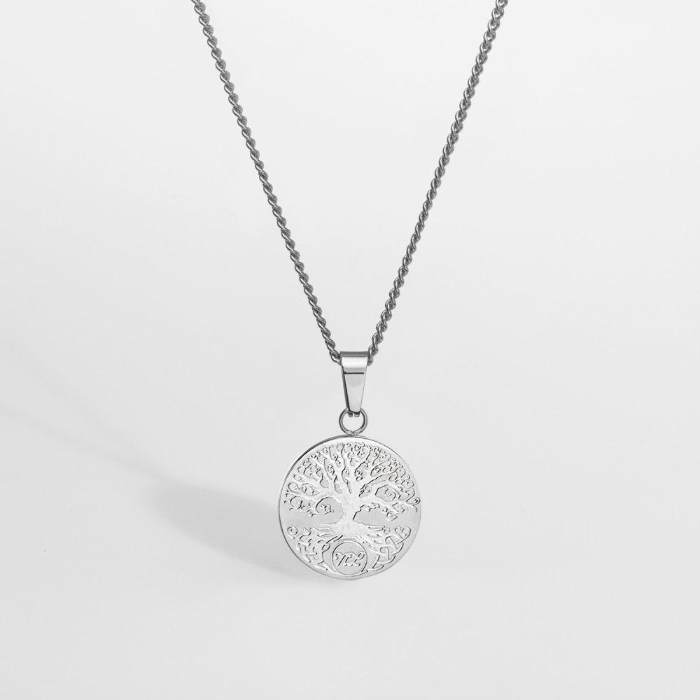 NL Yggdrasil halskæde - Sølvtonet