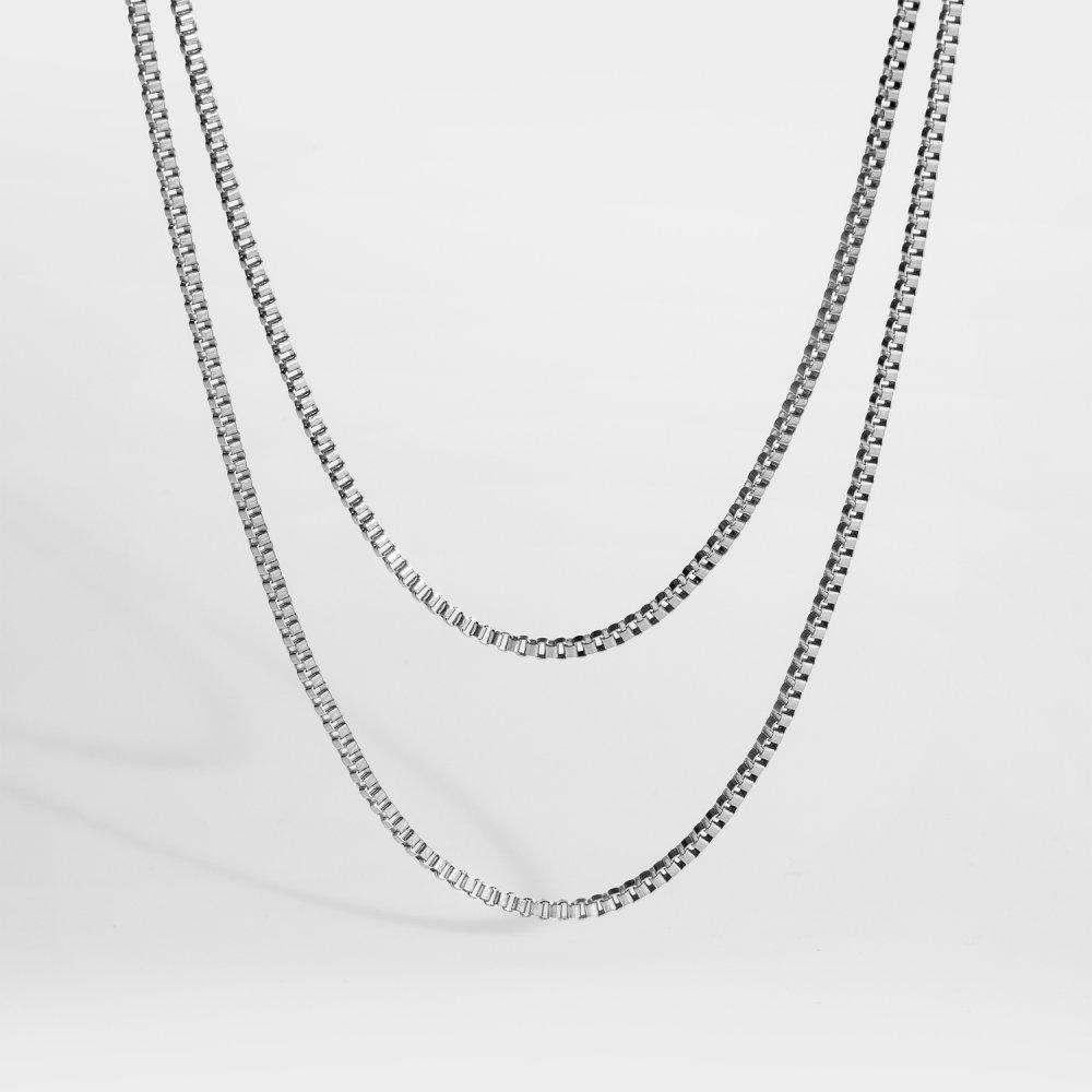 NL Double Chain - Sølvtonet