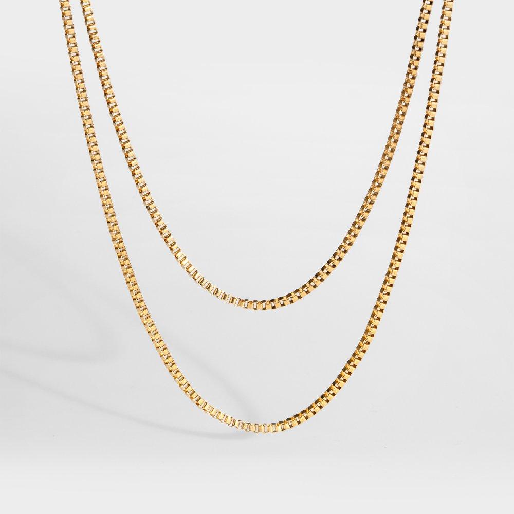 NL Double Chain - Guldtonet