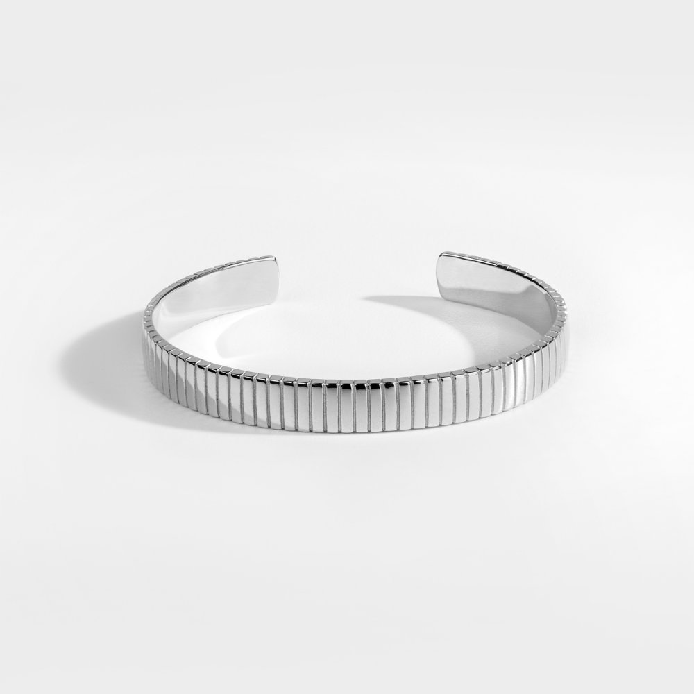 NL Siempre Cut armbånd - Sølvtonet