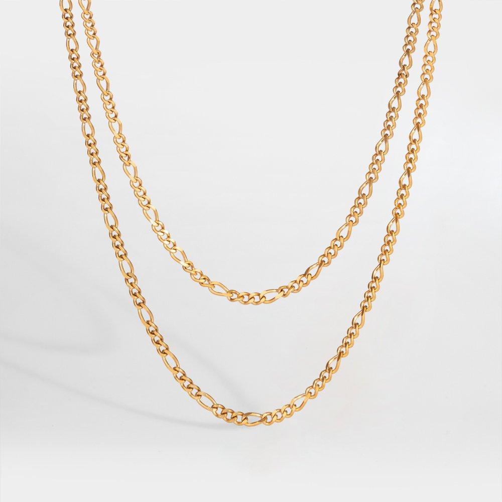 NL Double Antique halskæde - Guldtonet