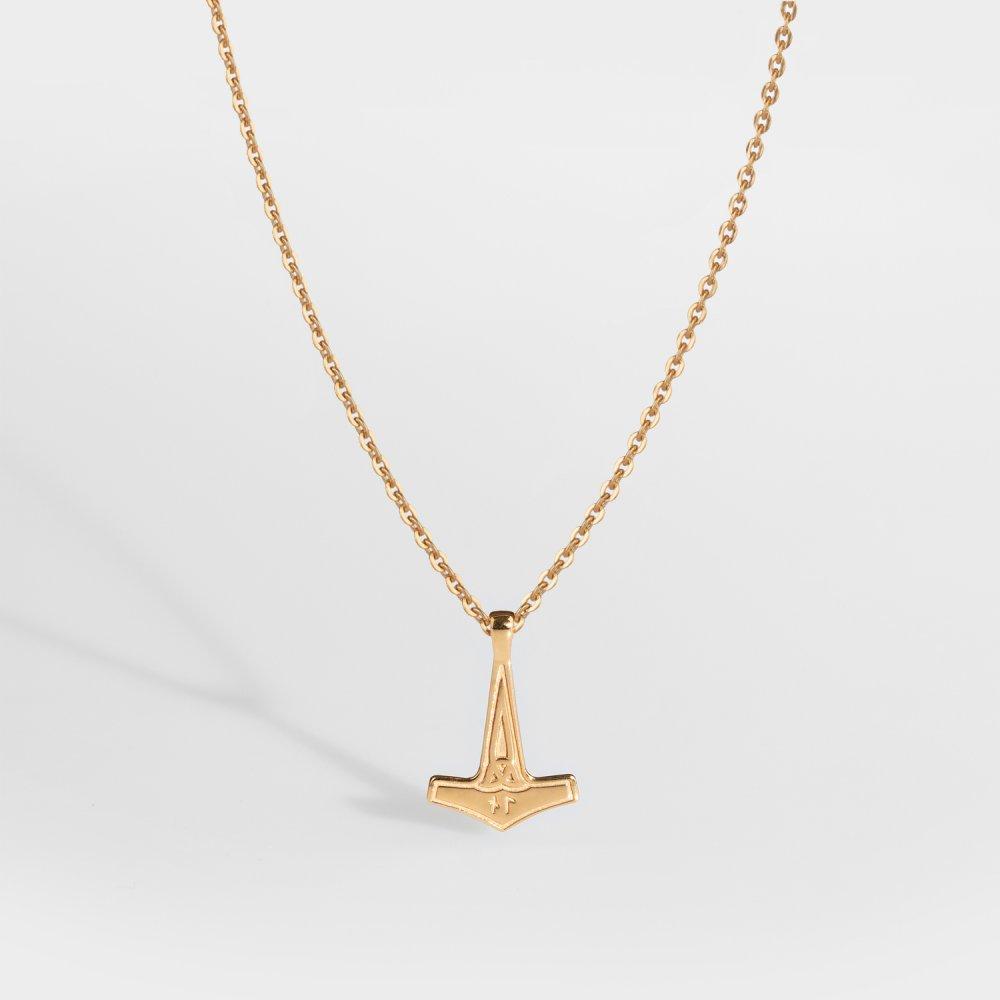 NL Mjolner halskæde 2.0 - Guldtonet