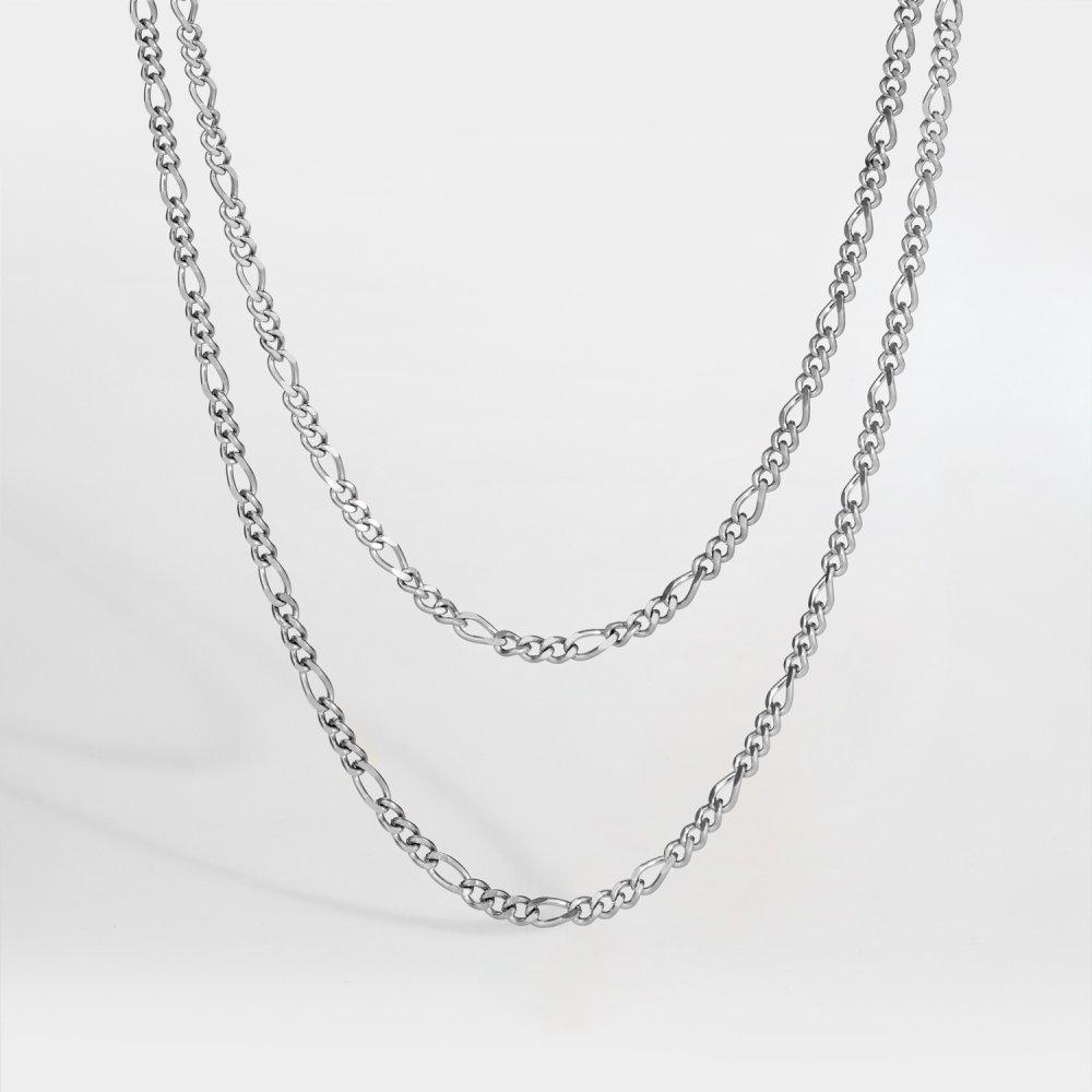 NL Double Antique halskæde - Sølvtonet
