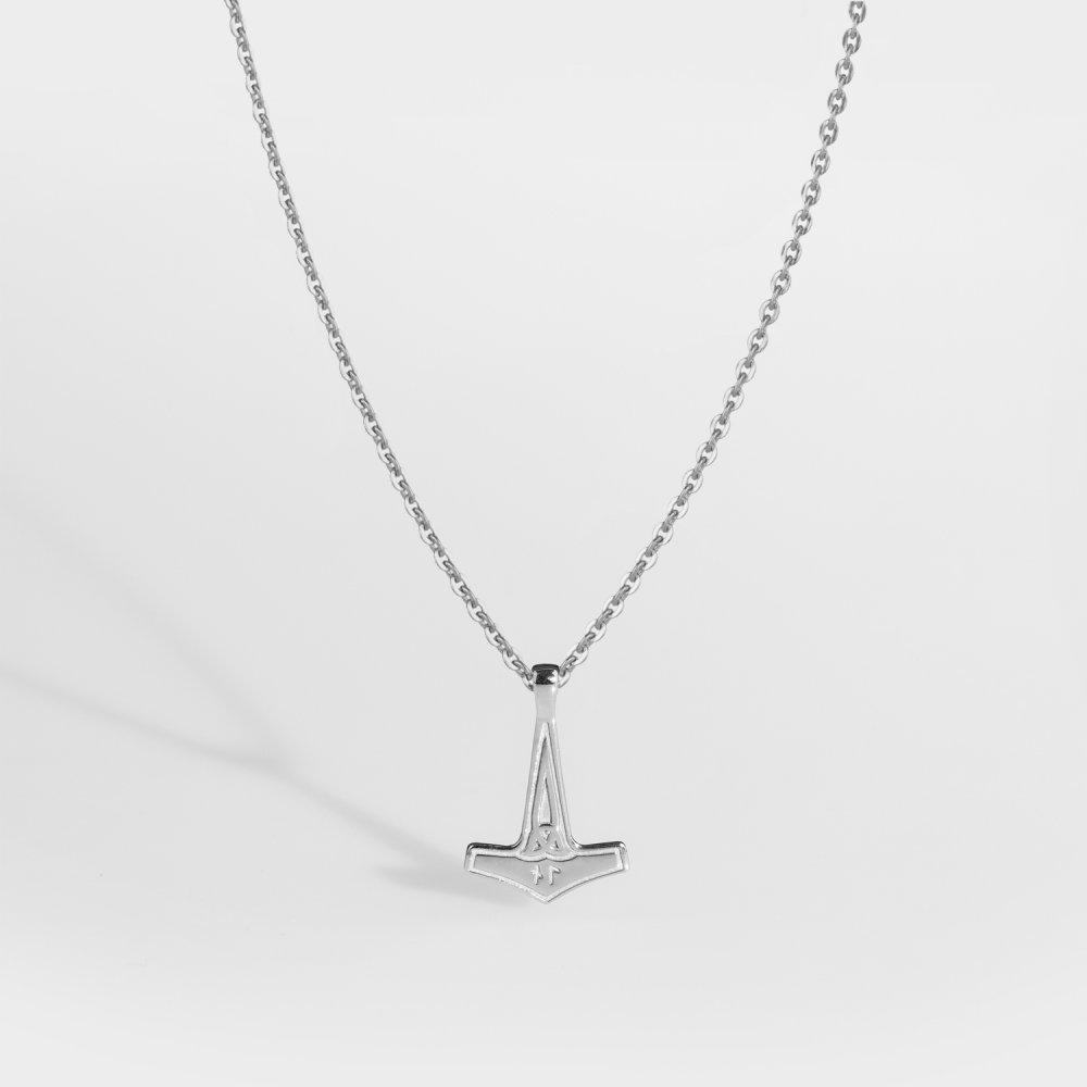NL Mjolner halskæde 2.0 - Sølvtonet