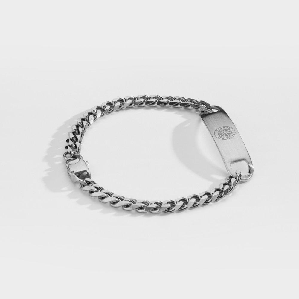 NL Sequence Tag armbånd - Sølvtonet