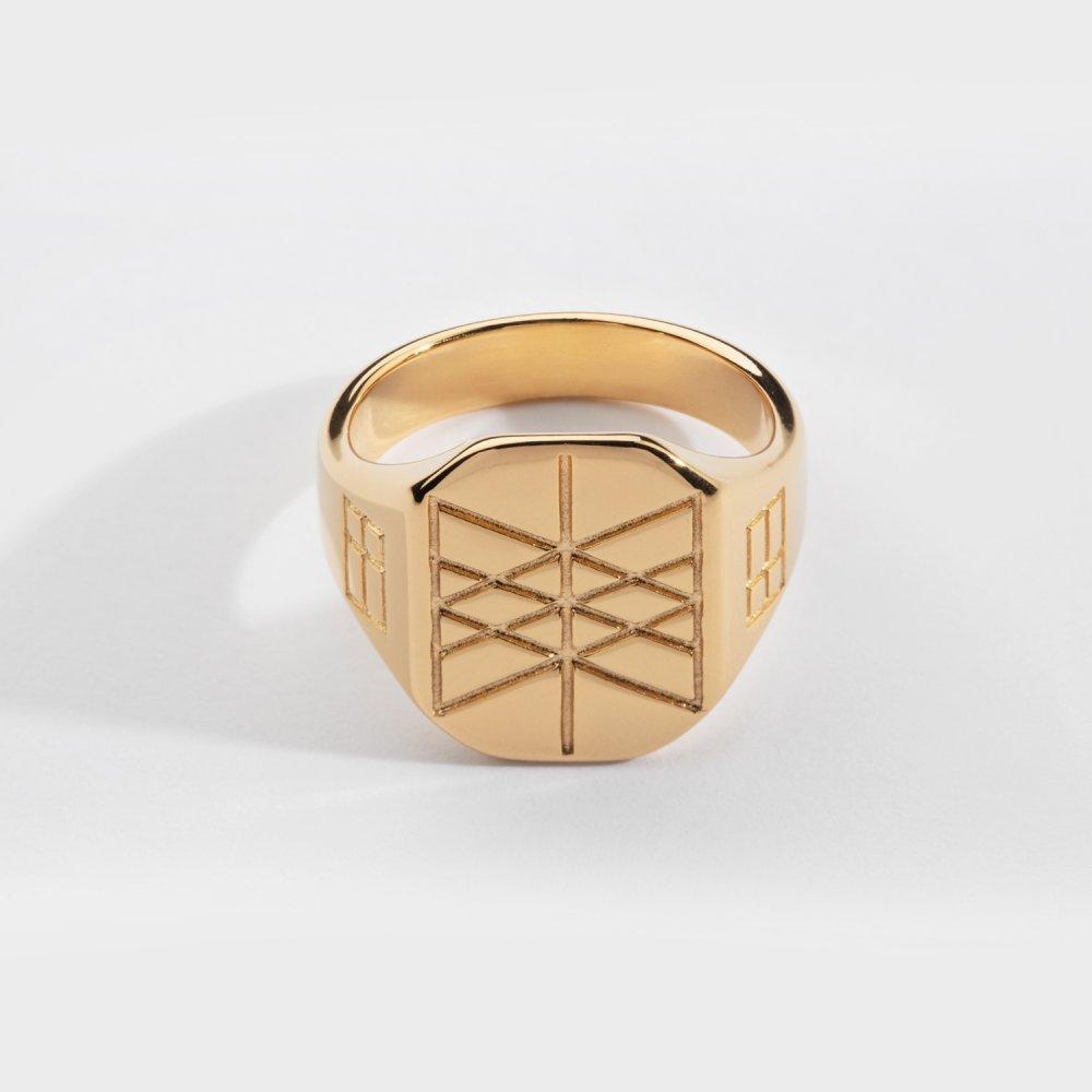 Web of Wyrd Signature ring - Guldtonet