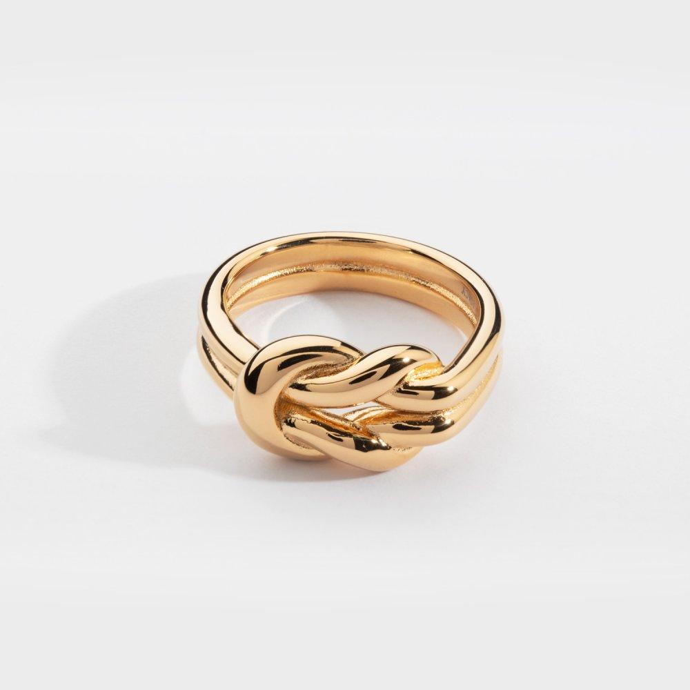 Perpetual band ring - Guldtonet