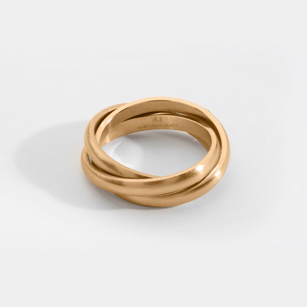 Helix band ring - Guldtonet