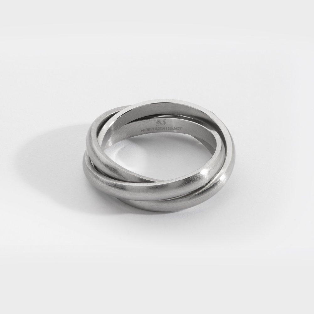 Helix band ring - Sølvtonet