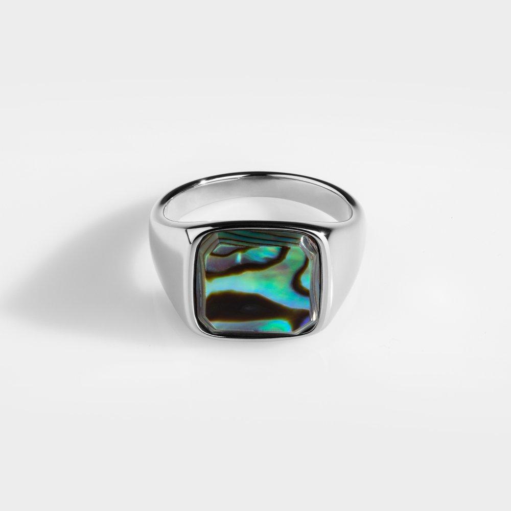 Abelone Signature - Sølvtonet ring