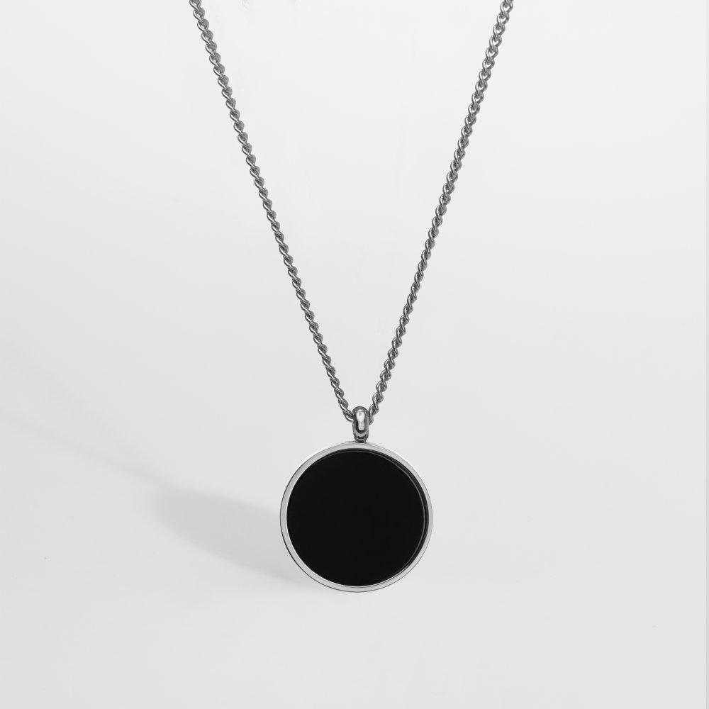 Black Onyx smykkesættet - Sølvtonet