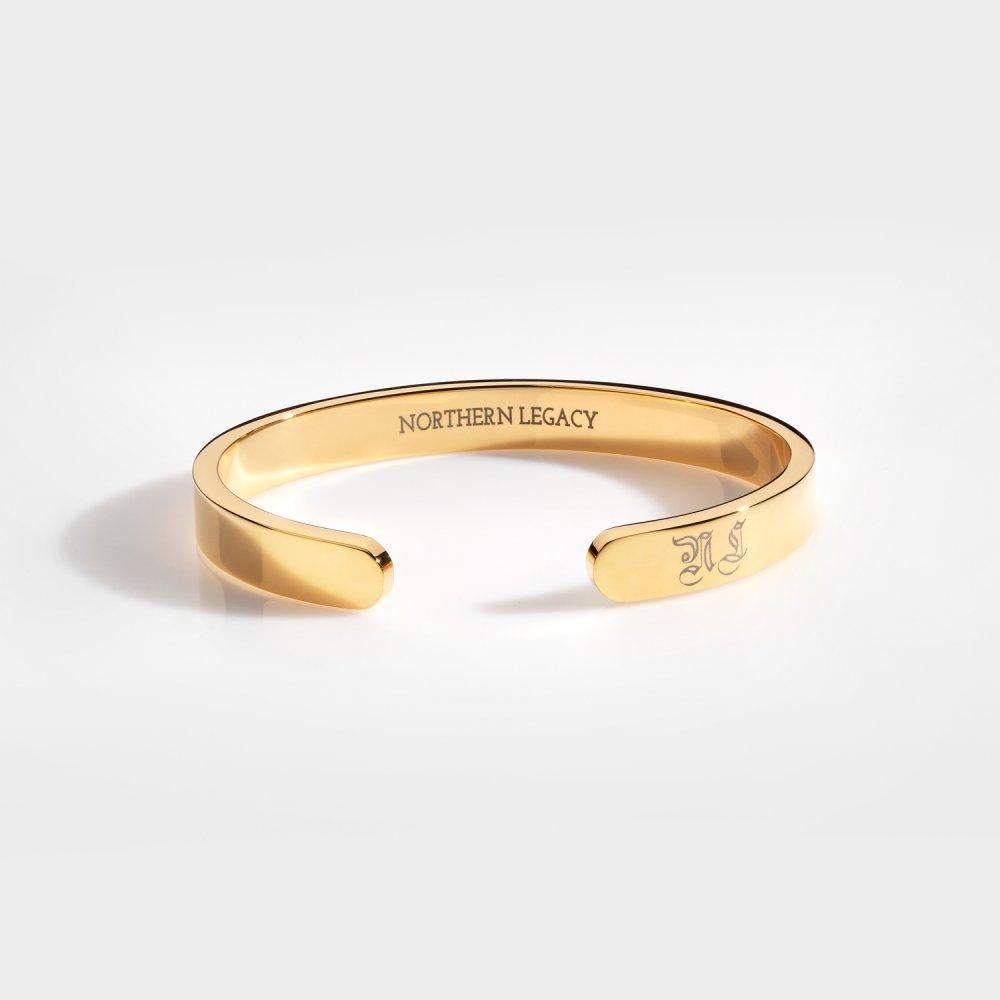 NL Chunky Signature bangle - Guldtonet