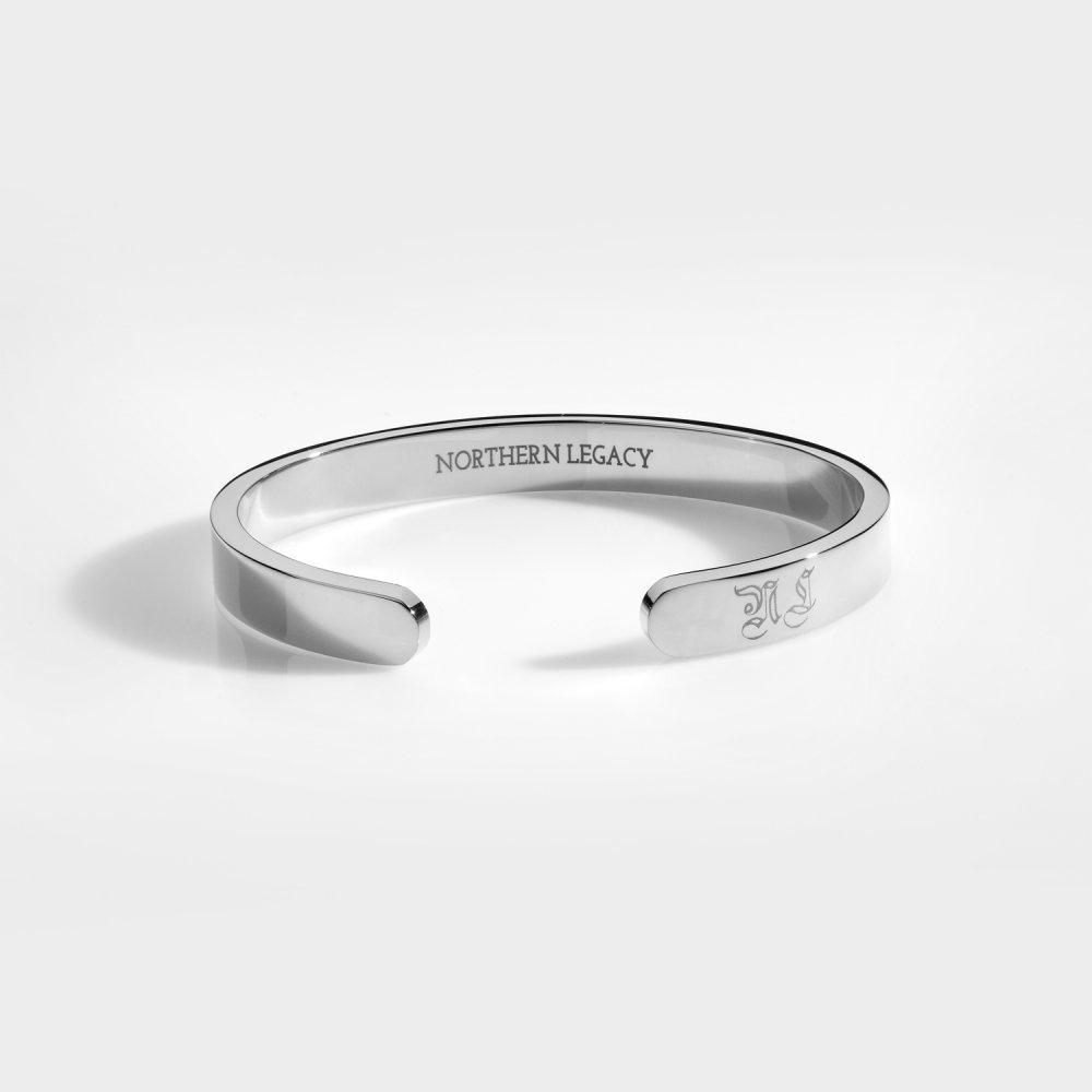NL Chunky Signature bangle - Sølvtonet