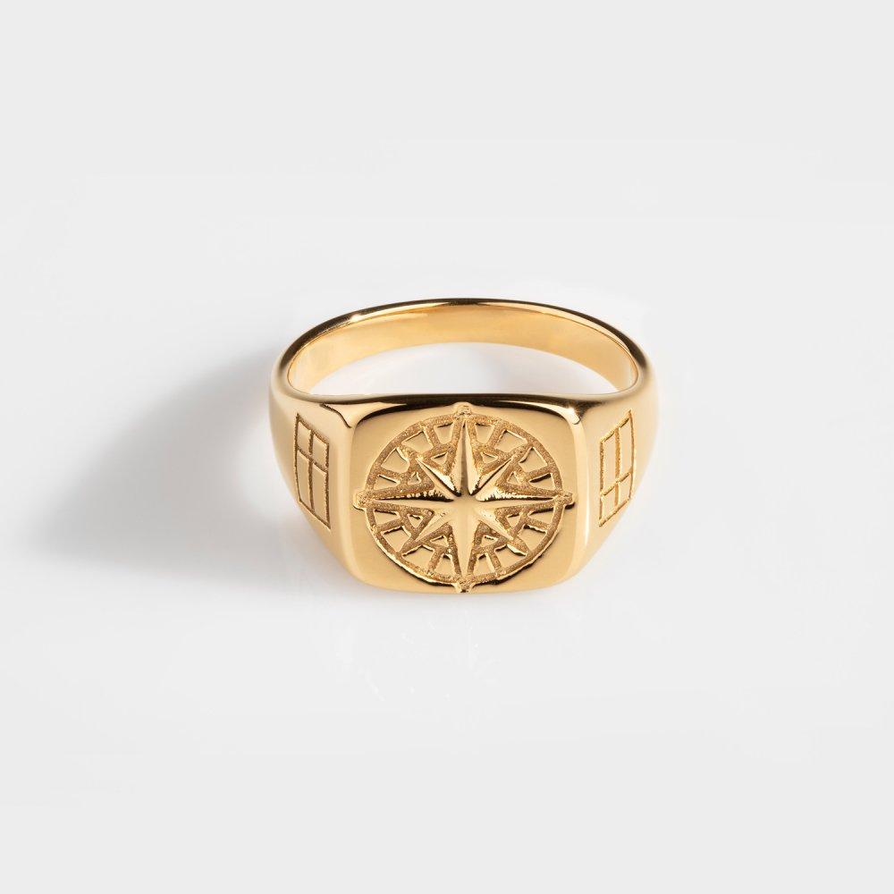 Compass Signature - Guldtonet ring
