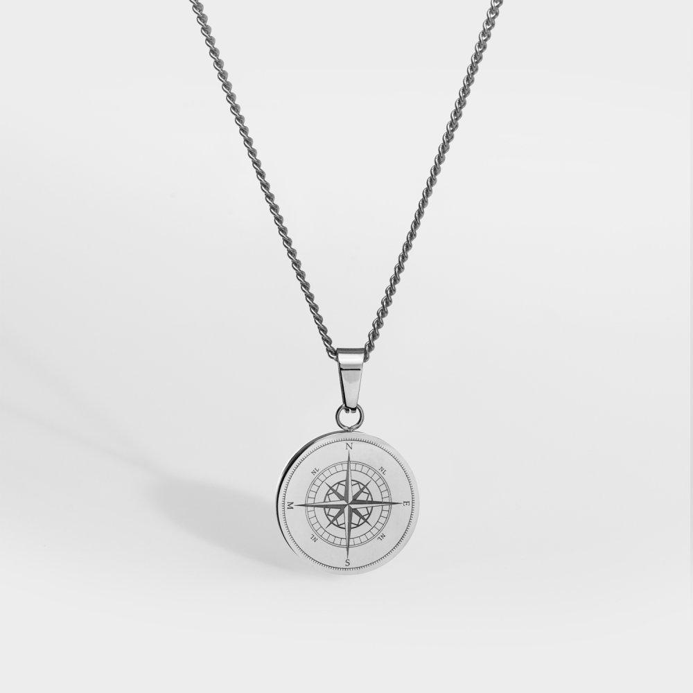 Kompas smykkesættet - Sølvtonet