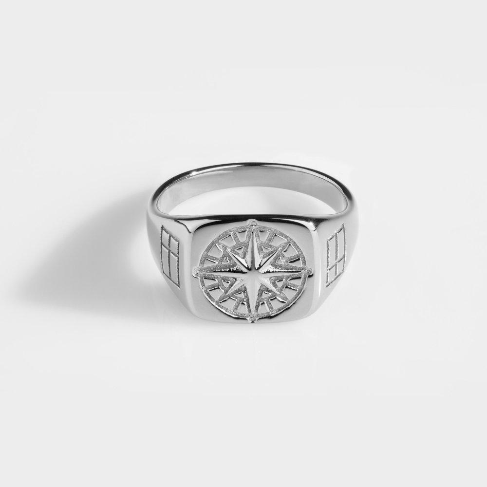 Compass Signature - Sølvtonet ring