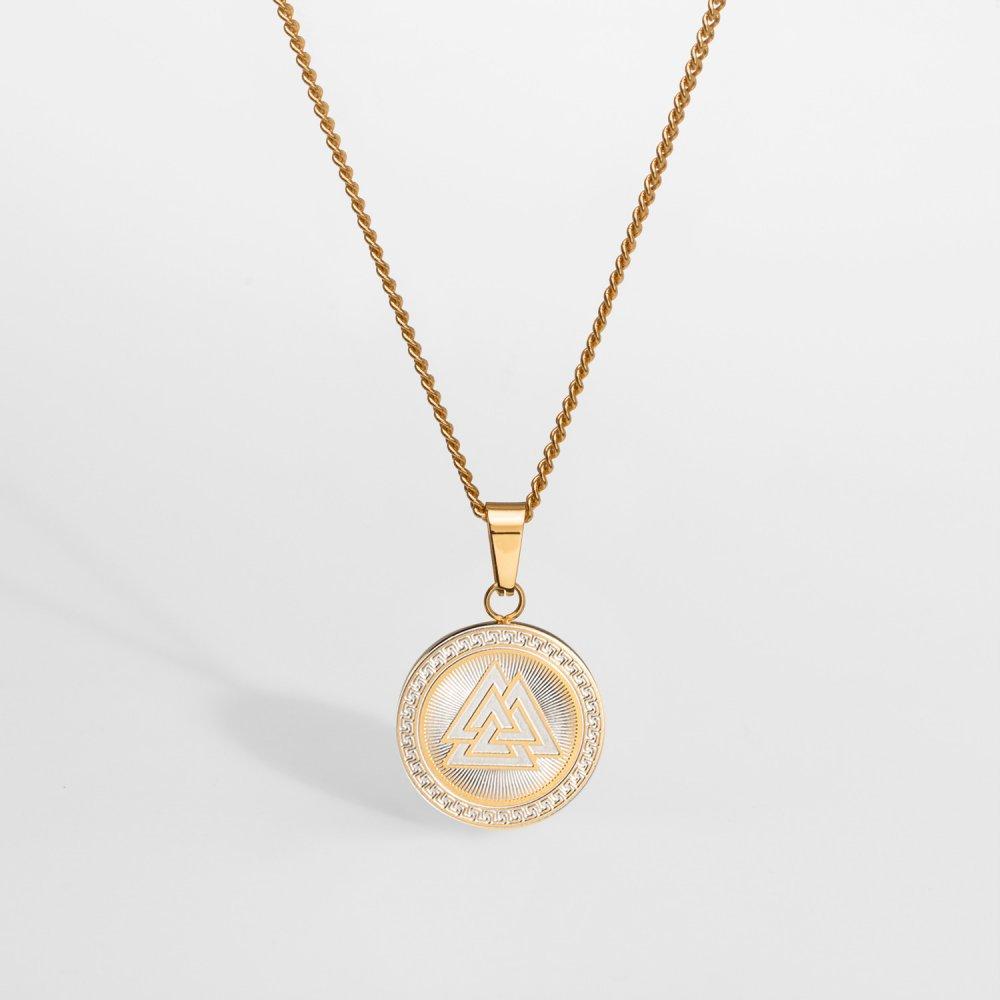 NL Valknut Signature halskæde - Guldtonet