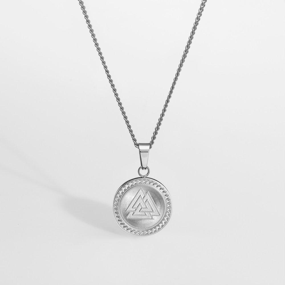 NL Valknut Signature halskæde - Sølvtonet