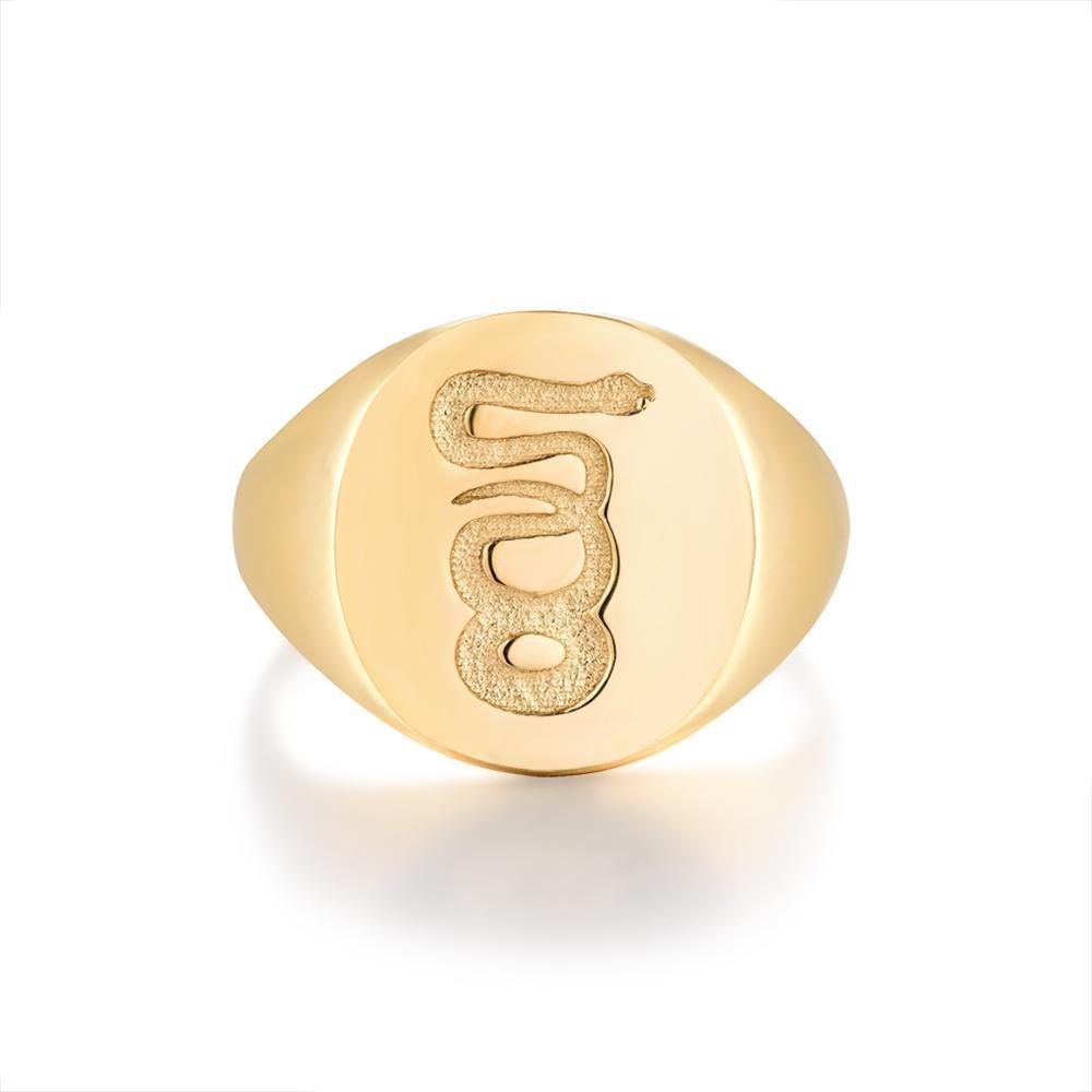 Eternity Signature - Guldtonet ring