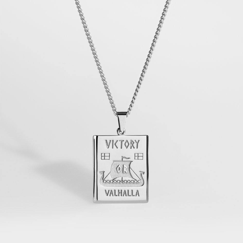 NL Victory or Valhalla halskæde - Sølvtonet