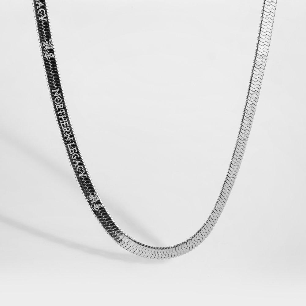 NL Herringbone halskæde - Sølvtonet