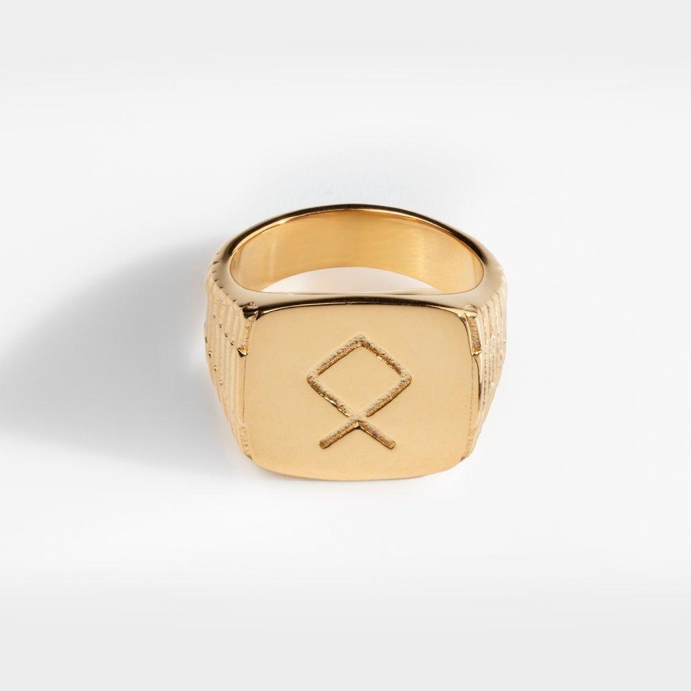 Othila Oversize Signature - Guldtonet ring
