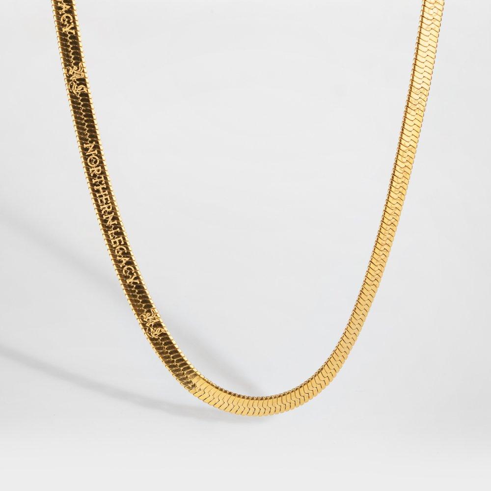NL Herringbone halskæde - Guldtonet
