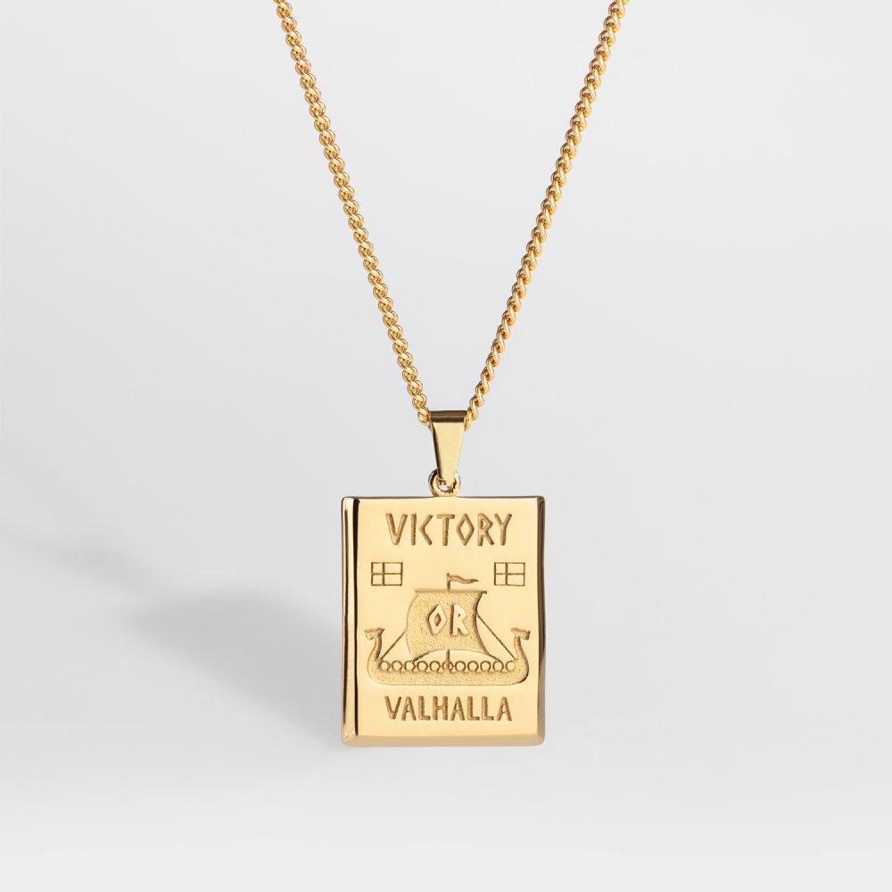 NL Victory or Valhalla halskæde - Guldtonet