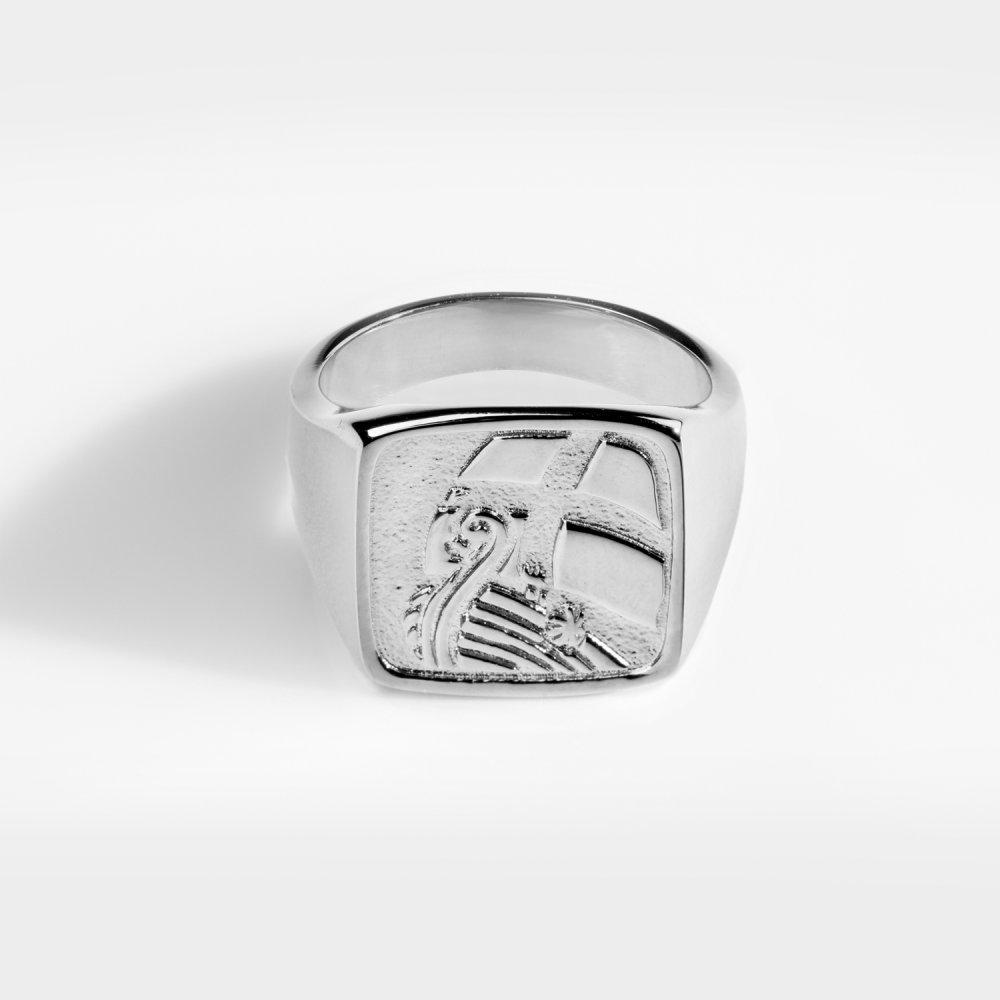 Explorer Oversize Signature - Sølvtonet ring