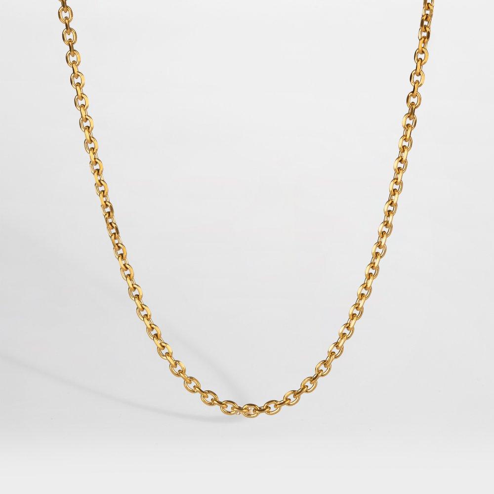 NL Cable halskæde - Guldtonet