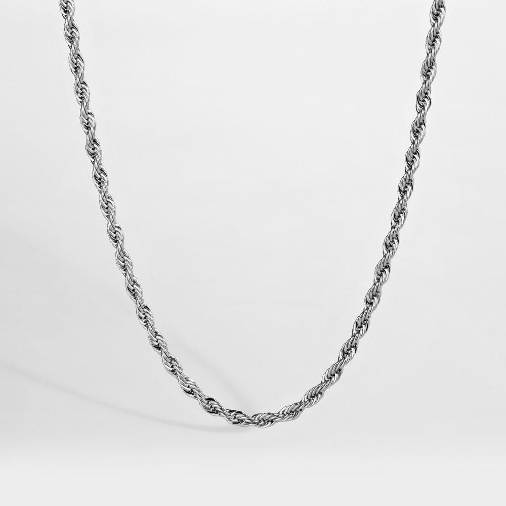 NL Rope halskæde - Sølvtonet