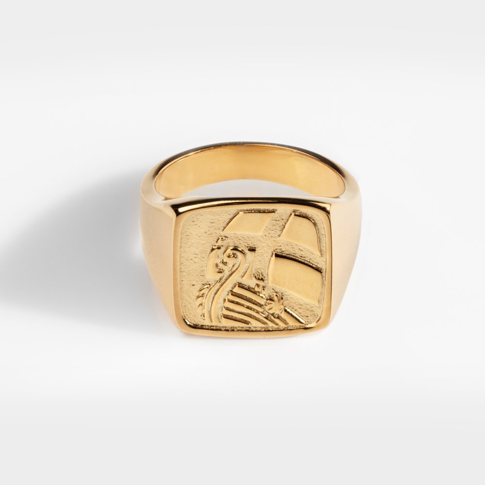 Explorer Oversize Signature - Guldtonet ring