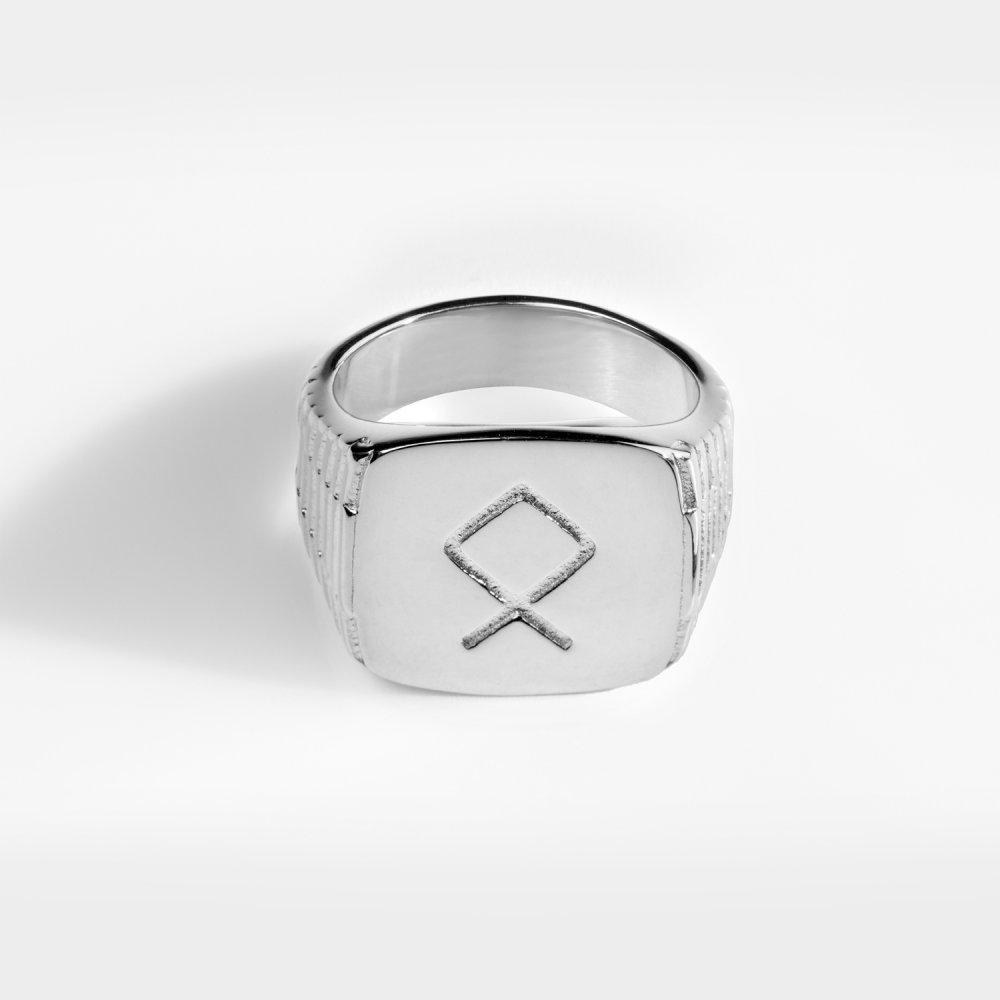 Othila Oversize Signature - Sølvtonet ring
