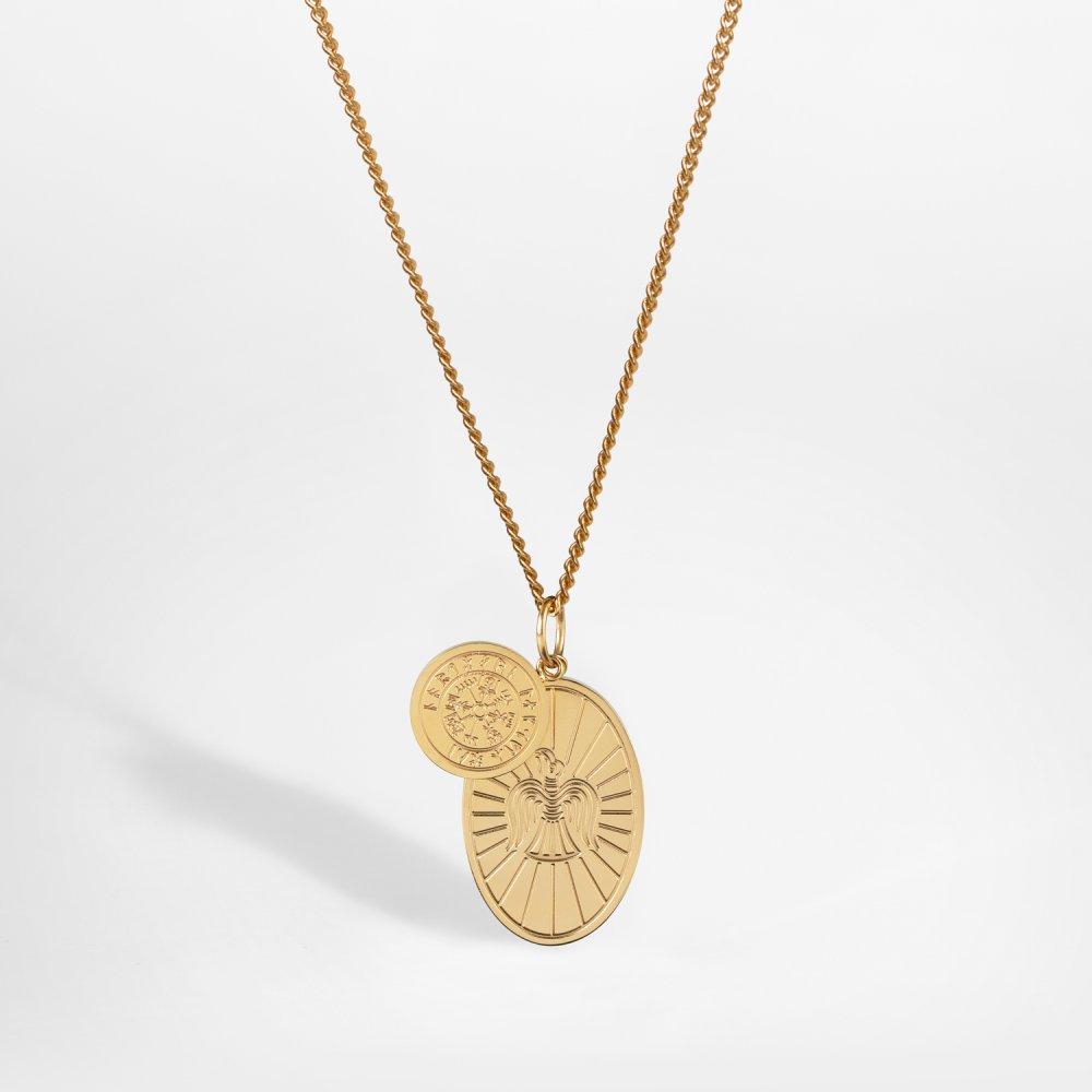 NL Muninn halskæde - Guldtonet