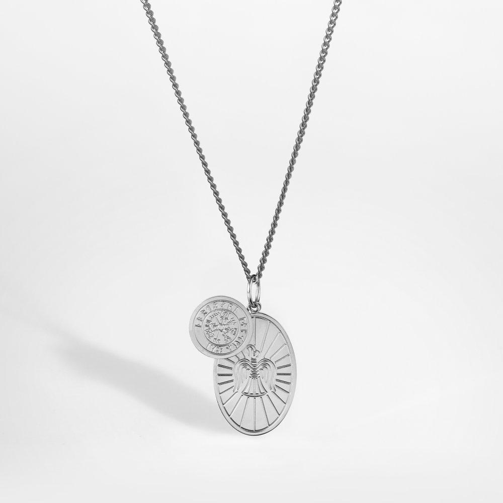 NL Muninn halskæde - Sølvtonet