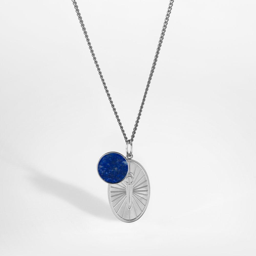 NL Gungnir/Lapis halskæde - Sølvtonet