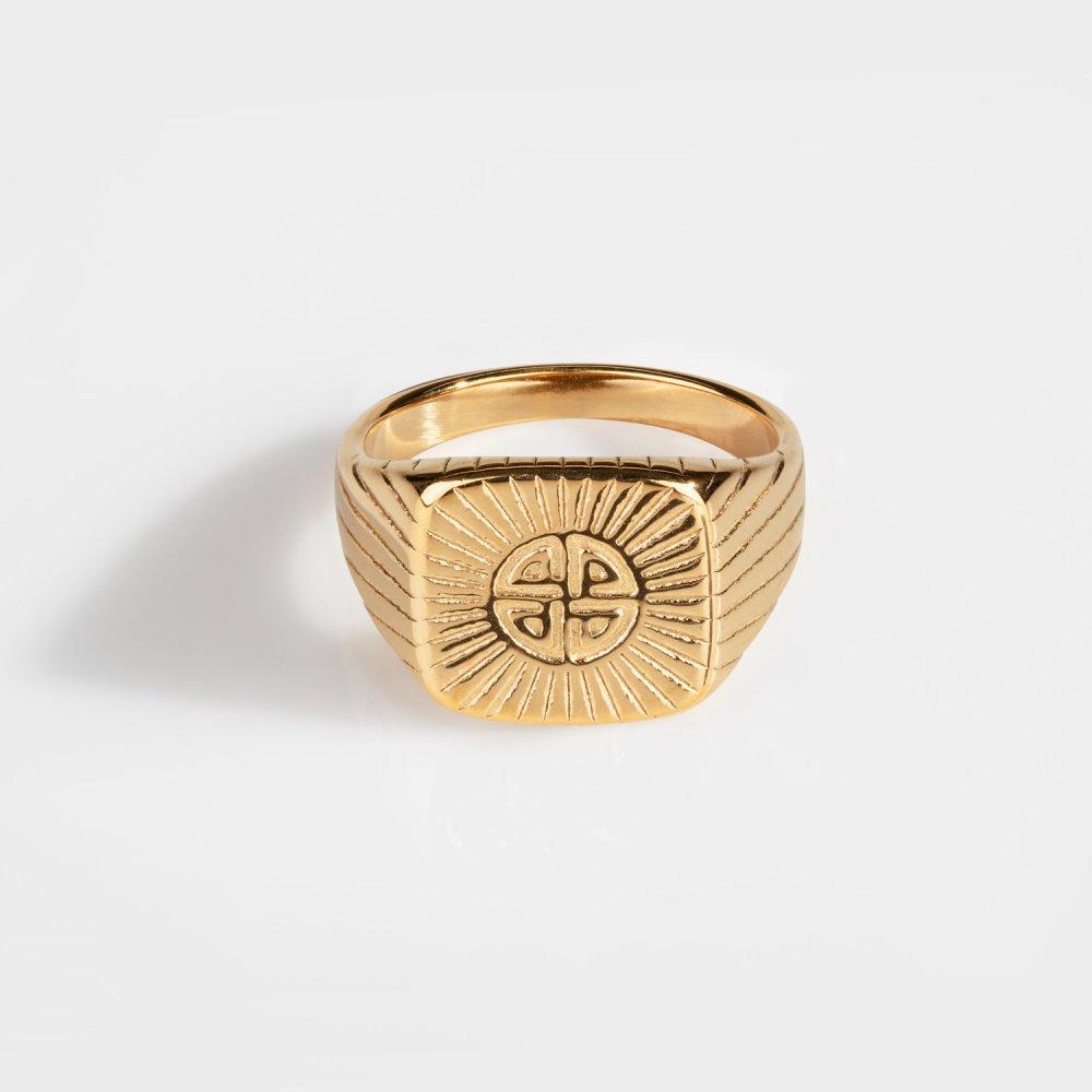 Knot Signature - Guldtonet ring