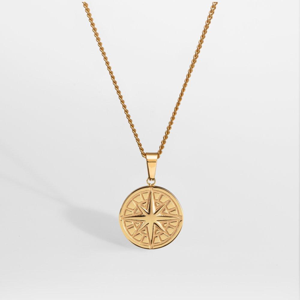 NL Compass halskæde 2.0 - Guldtonet