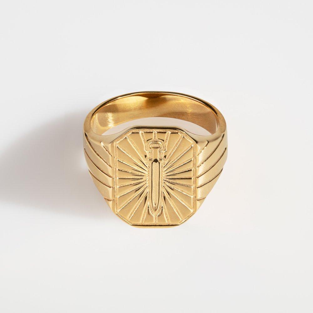 Gungnir Signature - Guldtonet ring