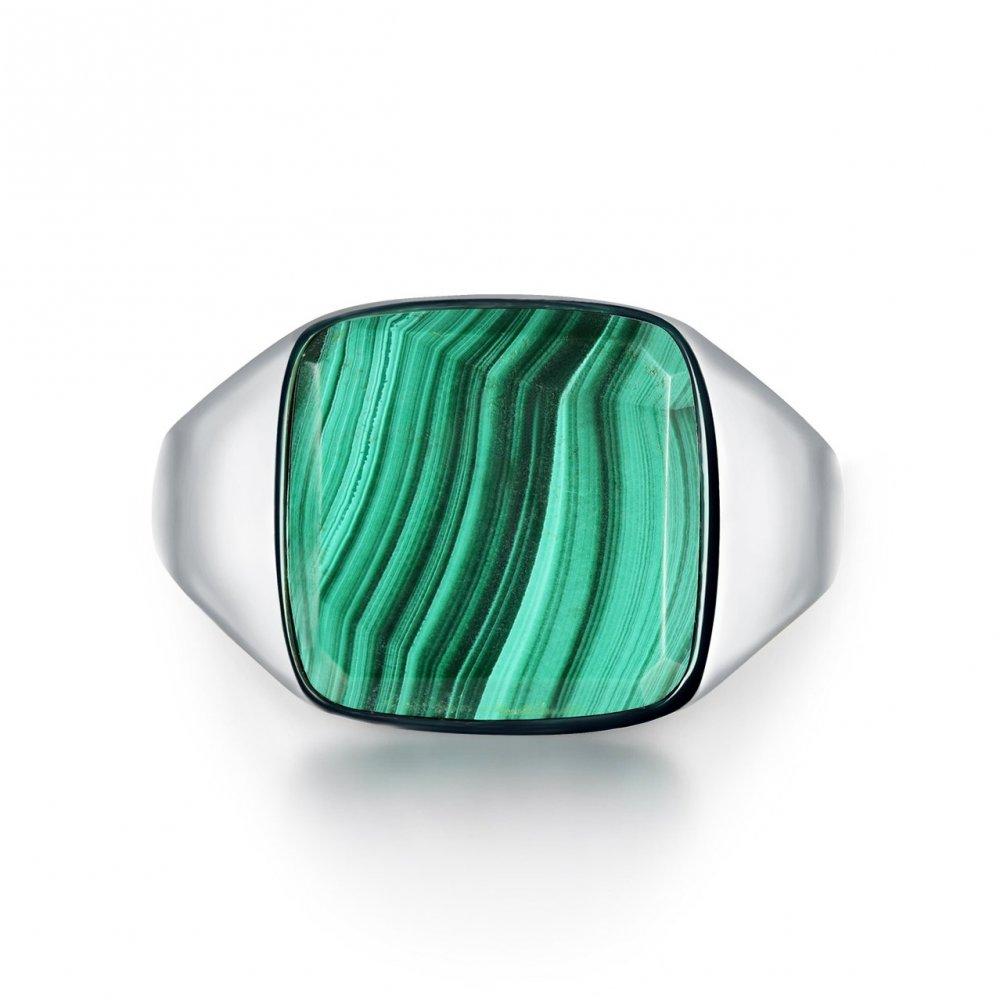 Malachite Signature - Sølvtonet ring