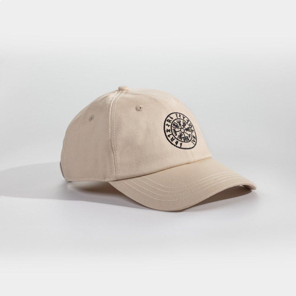 NL Vegvisir Dad cap - Sandfarvet/sort