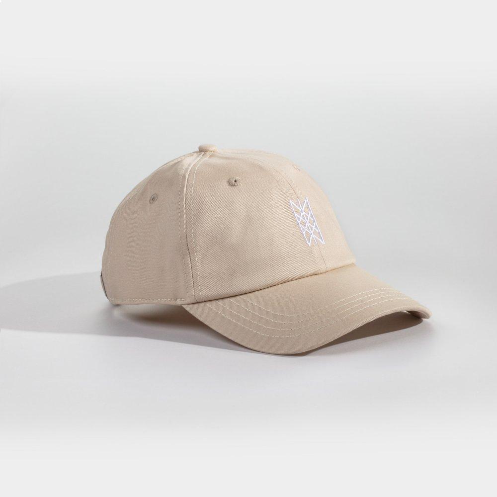 NL Web of Wyrd cap - Sandfarvet/hvid