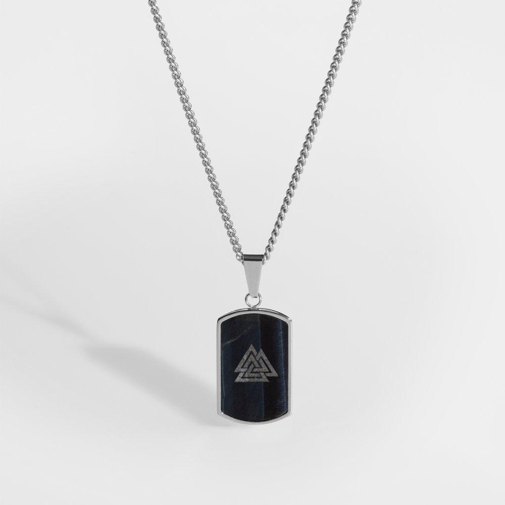 NL Valknut halskæde - Sølvtonet