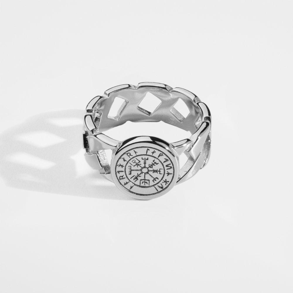 Vegvisir Chain Signature - Sølvtonet ring