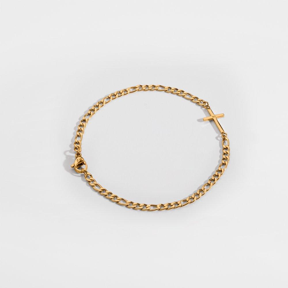 NL Antique Cross Armbånd - Guldtonet