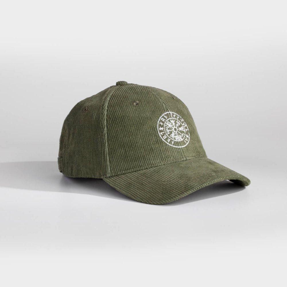 NL Vegvisir cap - Army grøn fløjl