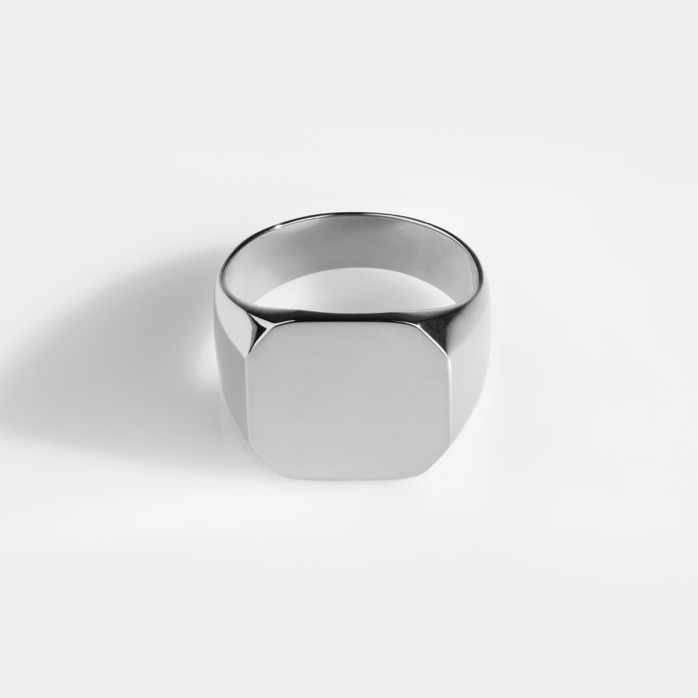 Classic Oversize Signature - Sølvtonet ring